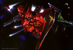 Rating: Questionable Score: 13 Tags: char's_counterattack gundam sazabi suzuki_takuya User: drop