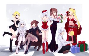 Rating: Safe Score: 44 Tags: bra cait christmas cleavage dress thighhighs wallpaper User: fireattack