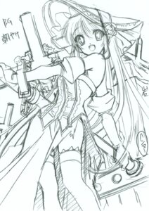Rating: Questionable Score: 8 Tags: dress lolita_fashion monochrome senomoto_hisashi sketch thighhighs User: petopeto