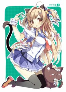 Rating: Safe Score: 38 Tags: animal_ears masushita_ito nekomimi seifuku tail thighhighs User: fairyren