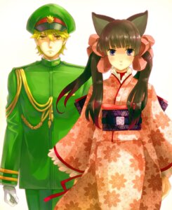 Rating: Safe Score: 7 Tags: agemaki_kei animal_ears kimono otome_youkai_zakuro owarine_miku uniform zakuro User: charunetra