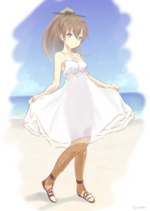 Rating: Safe Score: 38 Tags: dress kantai_collection kumano_(kancolle) summer_dress wa_(genryusui) User: zero|fade