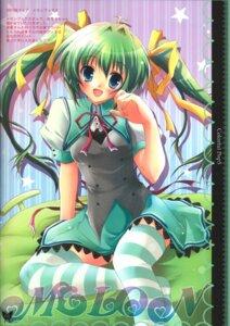 Rating: Safe Score: 18 Tags: hisuitei izumi_tsubasu melon-chan melonbooks thighhighs User: petopeto