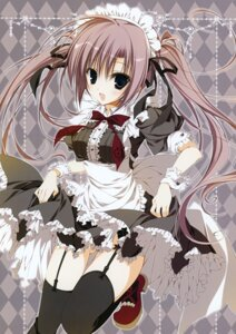 Rating: Questionable Score: 53 Tags: heels inugami_kira maid skirt_lift stockings thighhighs User: Hatsukoi