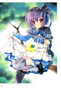Rating: Safe Score: 33 Tags: dress kamiya_maneki skirt_lift thighhighs User: crim