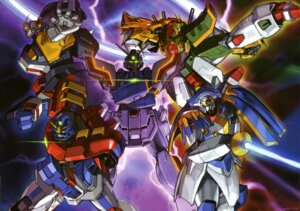 Rating: Safe Score: 9 Tags: bolt_gundam dragon_gundam g_gundam gundam gundam_maxter gundam_rose mecha shining_gundam sword User: Radioactive