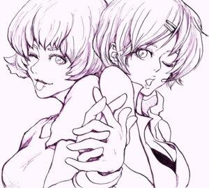 Rating: Safe Score: 4 Tags: crossover meiko monochrome ori paprika paprika_(character) vocaloid User: yumichi-sama