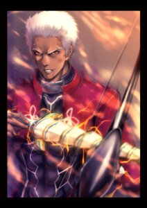 Rating: Safe Score: 5 Tags: archer armor blood bodysuit fate/stay_night male weapon zucchini User: mash