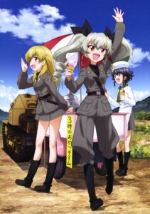 Rating: Safe Score: 15 Tags: anchovy carpaccio girls_und_panzer pepperoni uniform User: drop