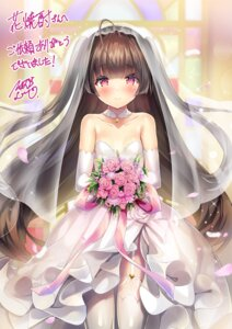 Rating: Questionable Score: 23 Tags: dress no_bra sorimura_youji stockings tagme thighhighs wedding_dress User: Dreista