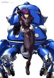 Rating: Safe Score: 11 Tags: ghost_in_the_shell gun kusanagi_motoko mecha nakamura_satoru overfiltered tachikoma teraoka_kenzi User: Wraith