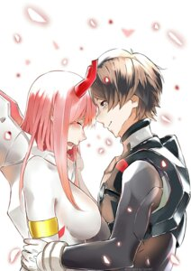 Rating: Safe Score: 14 Tags: bodysuit darling_in_the_franxx genm7 hiro_(darling_in_the_franxx) horns zero_two_(darling_in_the_franxx) User: 김도엽