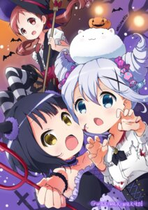 Rating: Safe Score: 46 Tags: blood gochuumon_wa_usagi_desu_ka? halloween horns jouga_maya kafuu_chino natsu_megumi pantyhose torn_clothes waki_(pixiv2609622) weapon witch User: saemonnokami