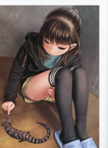 Rating: Safe Score: 35 Tags: range_murata sweater thighhighs User: BattlequeenYume