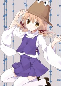 Rating: Safe Score: 22 Tags: moriya_suwako purin_jiisan thighhighs touhou User: Radioactive