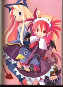 Rating: Safe Score: 13 Tags: binding_discoloration disgaea etna flonne pointy_ears prinny yamamoto_keiji User: MDGeist