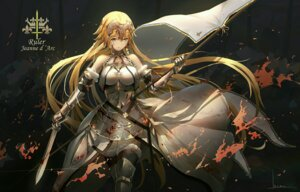 Rating: Safe Score: 52 Tags: armor blood fate/apocrypha fate/stay_night jeanne_d'arc jeanne_d'arc_(fate/apocrypha) sword thighhighs User: AnoCold