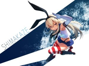 Rating: Safe Score: 15 Tags: hara_shotaro heels kantai_collection shimakaze_(kancolle) thighhighs User: Nepcoheart