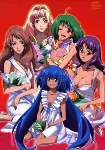 Rating: Safe Score: 20 Tags: catherine_glass cleavage dress klan_klein macross macross_frontier matsuura_nanase megane no_bra pointy_ears ranka_lee sheryl_nome tsukahara_hajime User: Komori_kiri