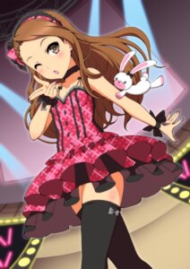 Rating: Safe Score: 47 Tags: dress minase_iori ookami_maito the_idolm@ster the_idolm@ster_2 thighhighs User: Mr_GT