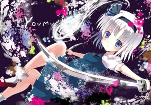 Rating: Safe Score: 18 Tags: asahina konpaku_youmu sword touhou User: tbchyu001
