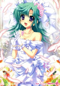 Rating: Safe Score: 33 Tags: cleavage dress higa_yukari wedding_dress User: Twinsenzw