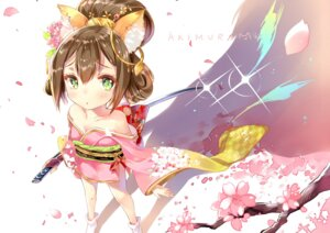 Rating: Safe Score: 44 Tags: animal_ears batgo kimono no_bra open_shirt sword User: KazukiNanako