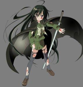 Rating: Safe Score: 12 Tags: seifuku shakugan_no_shana shana sword thighhighs torn_clothes transparent_png vector_trace User: Radioactive
