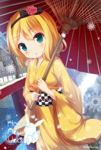 Rating: Safe Score: 18 Tags: chinomaron gochuumon_wa_usagi_desu_ka? kimono kirima_sharo umbrella User: Mr_GT