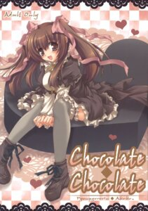 Rating: Safe Score: 12 Tags: akoko lolita_fashion pyonpyororin thighhighs User: Radioactive