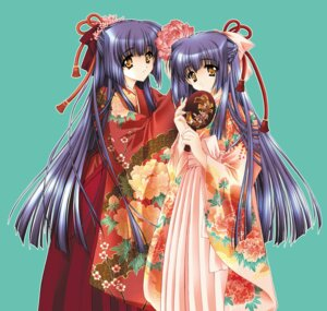 Rating: Safe Score: 20 Tags: carnelian japanese_clothes kuraki_mizuna kuraki_suzuna moonlight_lady orbit User: Radioactive
