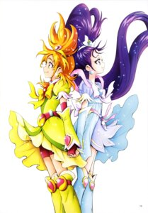 Rating: Safe Score: 8 Tags: bike_shorts dress futari_wa_pretty_cure_splash_star hyuuga_saki kamikita_futago mishou_mai pretty_cure User: drop