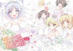 Rating: Questionable Score: 29 Tags: animal_ears cleavage dress gun-ota_ga_mahou_sekai_ni_tensei_shitara_gendai_heiki_de_guntai_harem_wo_tsukucchaimashita!? japanese_clothes no_bra pointy_ears tagme tail wedding_dress User: kiyoe