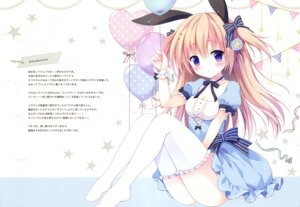 Rating: Questionable Score: 19 Tags: animal_ears bunny_ears cleavage dress izumi_nanase thighhighs User: Radioactive