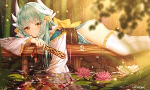 Rating: Safe Score: 86 Tags: fate/grand_order horns japanese_clothes junpaku_karen kiyohime_(fate/grand_order) thighhighs wet User: Mr_GT
