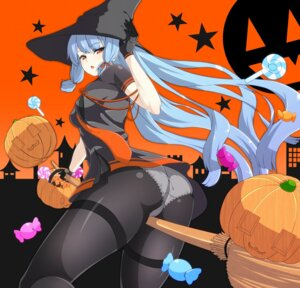 Rating: Questionable Score: 56 Tags: ass cameltoe dress halloween jito_(mesuki_nitouhei) kantai_collection murakumo_(kancolle) pantsu pantyhose witch User: MurakumoJP