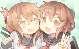 Rating: Safe Score: 22 Tags: ikazuchi_(kancolle) inazuma_(kancolle) kantai_collection murohinomio seifuku User: Zenex