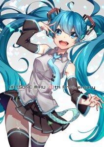 Rating: Safe Score: 27 Tags: hatsune_miku tattoo thighhighs vocaloid westxost_(68monkey) User: Mr_GT