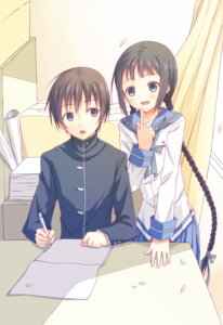 Rating: Safe Score: 14 Tags: amano_tooko bungaku_shoujo kinoshita_neko seifuku User: dione