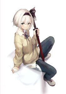Rating: Safe Score: 16 Tags: konpaku_youmu lumo_1121 myon sweater sword touhou User: Dreista