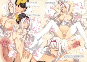 Rating: Explicit Score: 133 Tags: breast_grab censored fellatio naked nipples oyari_ashito penis pussy sex shijou_takane shoujo_kishidan the_idolm@ster thighhighs User: fireattack
