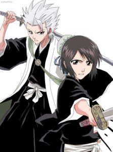 Rating: Safe Score: 4 Tags: bleach hinamori_momo hitsugaya_toushirou sword vector_trace watermark User: charunetra