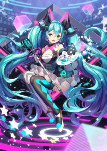 Rating: Safe Score: 40 Tags: hatsune_miku magical_mirai pupupu_(1053378452) thighhighs vocaloid User: Mr_GT