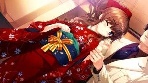 Rating: Safe Score: 64 Tags: game_cg hanamiya_nagisa kimono kuroya_shinobu trumple ushinawareta_mirai_wo_motomete User: mash