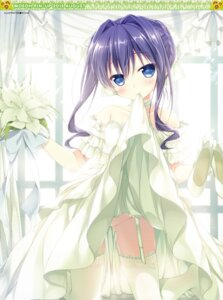 Rating: Questionable Score: 136 Tags: chikotam digital_version dress nopan skirt_lift stockings thighhighs wedding_dress User: Twinsenzw