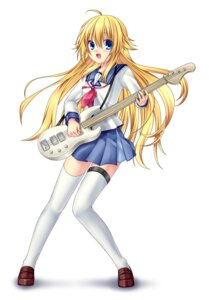 Rating: Safe Score: 33 Tags: 467 angel_beats! guitar seifuku sekine thighhighs User: fireattack