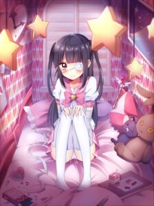 Rating: Questionable Score: 68 Tags: bandages eyepatch kzom pantsu seifuku thighhighs User: 椎名深夏