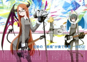 Rating: Safe Score: 11 Tags: chroma_of_wall crease devil guitar horns megane saitom tail wings User: blooregardo