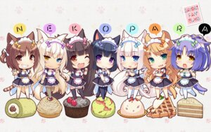 Rating: Safe Score: 65 Tags: animal_ears azuki chibi chocola cinnamon_(nekopara) cleavage coconut fishnets heterochromia maid maple_(nekopara) minazuki_shigure neko_works nekomimi nekopara pantyhose sayori tail thighhighs vanilla waitress wallpaper User: LiHaonan