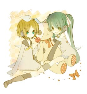 Rating: Safe Score: 18 Tags: hatsune_miku kagamine_rin purinto vocaloid User: Nekotsúh
